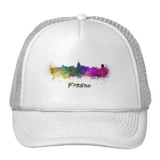 Fresno skyline in watercolor cap