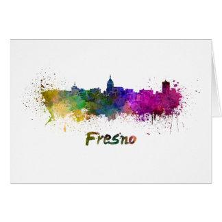 Fresno skyline in watercolor card