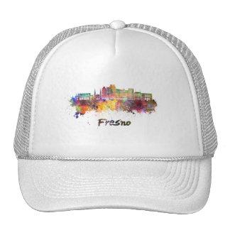 Fresno V2 skyline in watercolor Cap