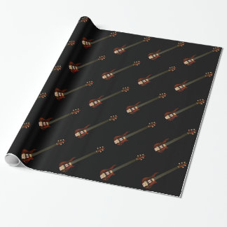 Fretless 5 String Bass Guitar Wrapping Paper