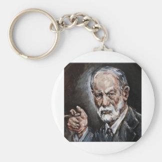 freud basic round button key ring