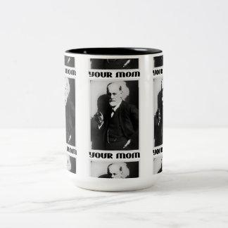 Freud 'Your Mom' - 15oz Coffee Cup Two-Tone Mug