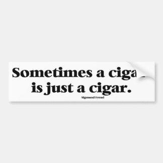 Freud's famous comment about cigars bumper sticker