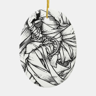 Frey seated on the throne of Odin Ceramic Ornament