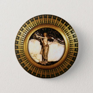 Freya Gold 6 Cm Round Badge