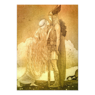 Freyja and Svipdag by John Bauer 1911 Card