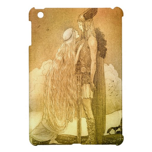 Freyja and Svipdag by John Bauer 1911 Cover For The iPad Mini