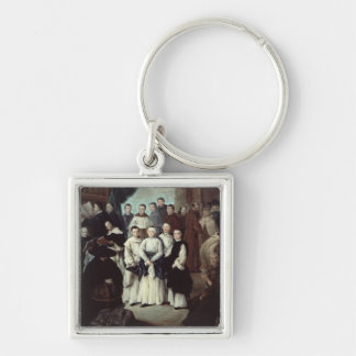 Friars in Venice Silver-Colored Square Key Ring