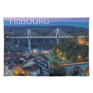 Fribourg city, Switzerland Placemat