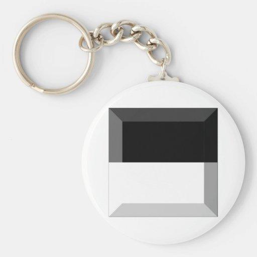 Fribourg Flag Gem Key Chain