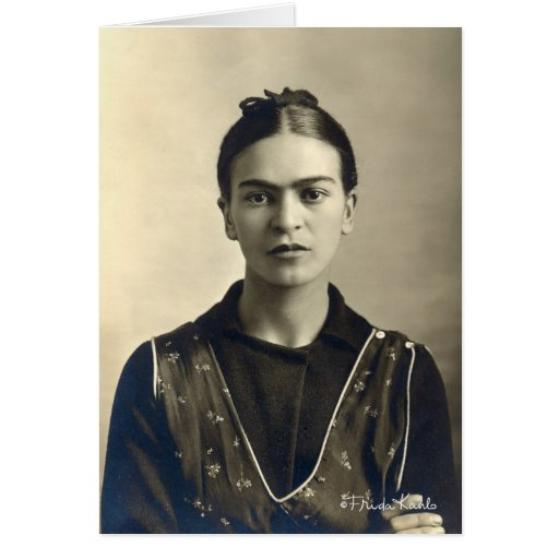 Frida Kahlo Arms Crossed Greeting Card