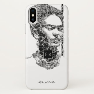 Frida Kahlo Black and White Portrait iPhone X Case
