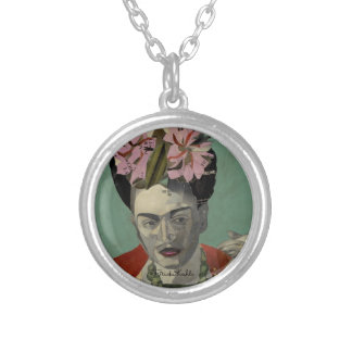 Frida Kahlo by Garcia Villegas Silver Plated Necklace