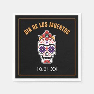 Frida Kahlo   Dia De Los Muertos Disposable Napkin