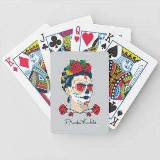 Frida Kahlo   El Día de los Muertos Bicycle Playing Cards