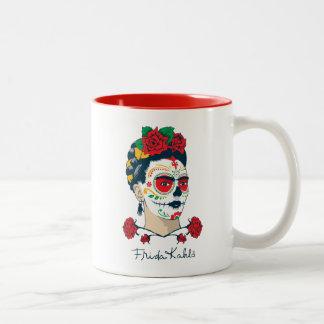 Frida Kahlo | El Día de los Muertos Two-Tone Coffee Mug