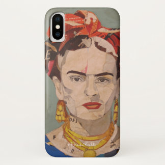 Frida Kahlo en Coyoacán Portrait iPhone X Case