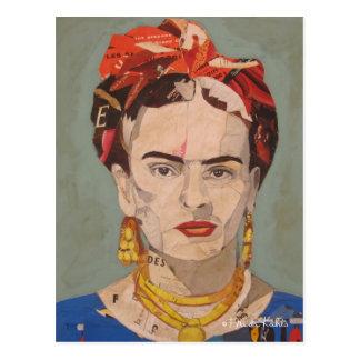 Frida Kahlo en Coyoacán Portrait Postcard