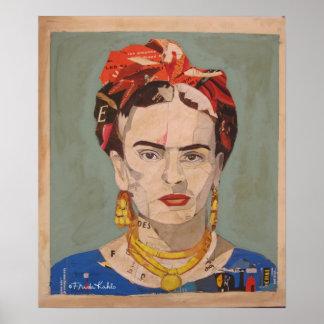 Frida Kahlo en Coyoacán Portrait 2 Posters