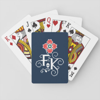 Frida Kahlo   Floral Tribute Playing Cards