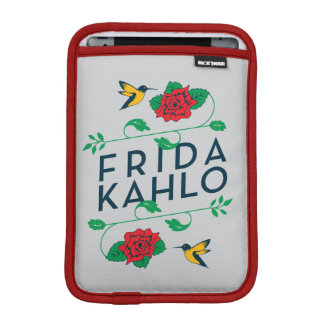 Frida Kahlo | Floral Typography iPad Mini Sleeve