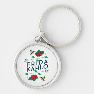 Frida Kahlo | Floral Typography Key Ring