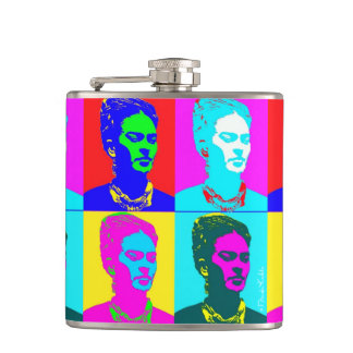 Frida Kahlo Inspired Portrait Flasks
