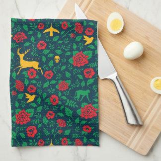 Frida Kahlo   Life Symbols Tea Towel
