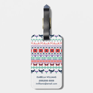 Frida Kahlo | Mexican Pattern Luggage Tag