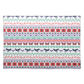 Frida Kahlo   Mexican Pattern Placemat