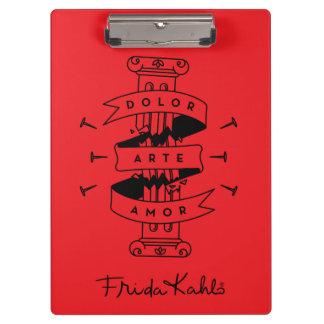 Frida Kahlo | Pain Art Love Clipboard