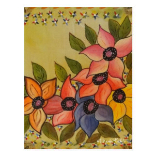 Frida Kahlo Painted Flores Postcard