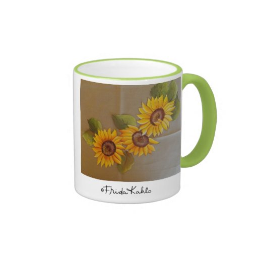 Frida Kahlo Painted Sunflowers Mug