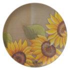 Frida Kahlo Painted Sunflowers Plate