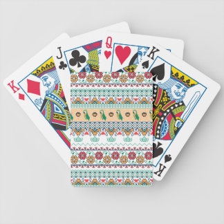Frida Kahlo | Patrón de Colores Bicycle Playing Cards