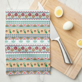 Frida Kahlo   Patrón de Colores Tea Towel