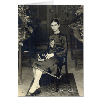 Frida Kahlo Seated Greeting Card