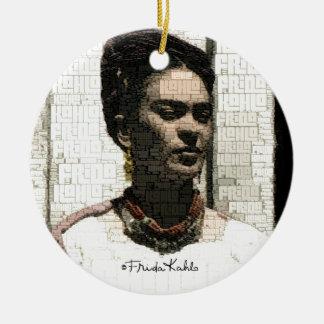 Frida Kahlo Textile Portrait Christmas Tree Ornament