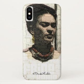 Frida Kahlo Textile Portrait iPhone X Case