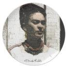 Frida Kahlo Textile Portrait Plate
