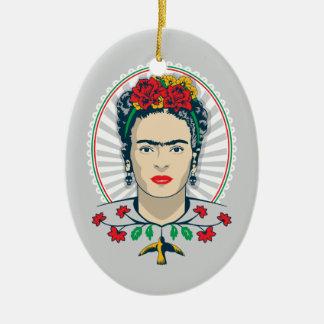 Frida Kahlo   Vintage Floral Ceramic Oval Decoration