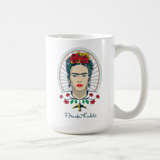 Frida Kahlo | Vintage Floral Coffee Mug