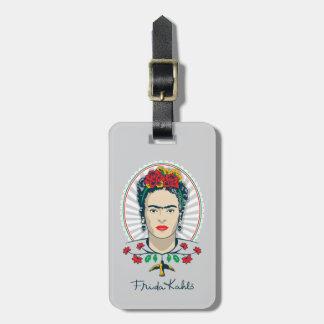 Frida Kahlo | Vintage Floral Luggage Tag