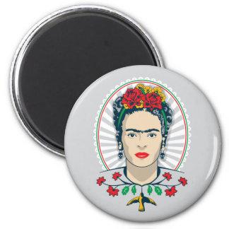 Frida Kahlo | Vintage Floral Magnet