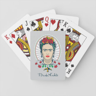 Frida Kahlo   Vintage Floral Playing Cards