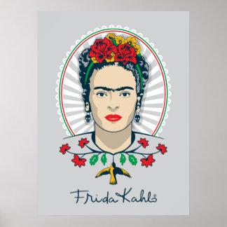 Frida Kahlo | Vintage Floral Poster