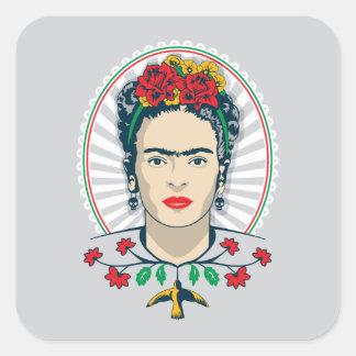Frida Kahlo | Vintage Floral Square Sticker