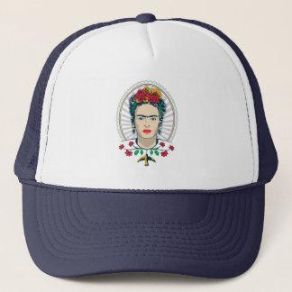 Frida Kahlo   Vintage Floral Trucker Hat
