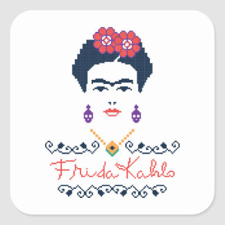 Frida Kahlo | Viva Mexico Square Sticker