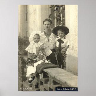 Frida Kahlo w/ Children Print